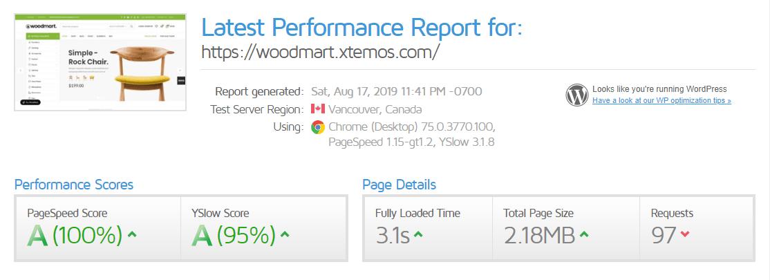 قالب ودمارت woodmart