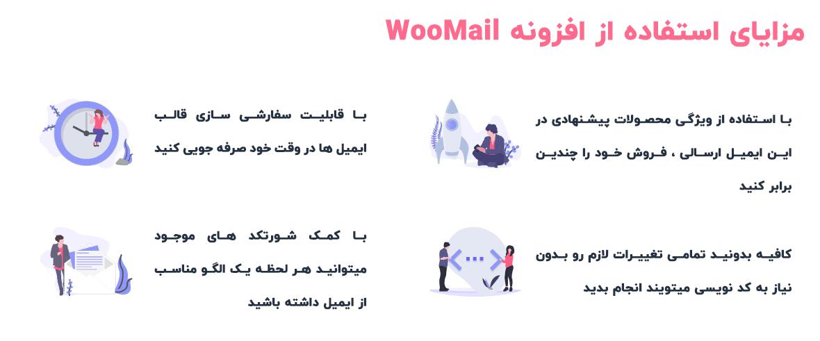 مزایای WooMail
